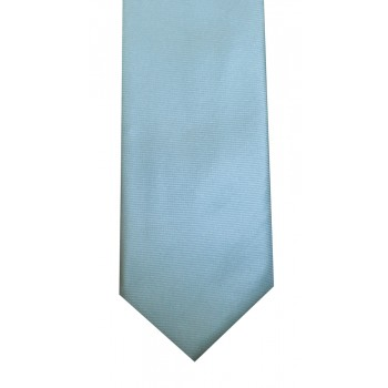 Turquoise Twill Tie with Matching Pocket Square