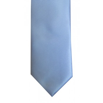 Pale Blue Twill Tie with Matching Pocket Square