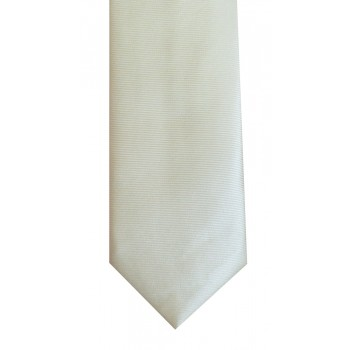 Ecru Twill Tie with Matching Pocket Square