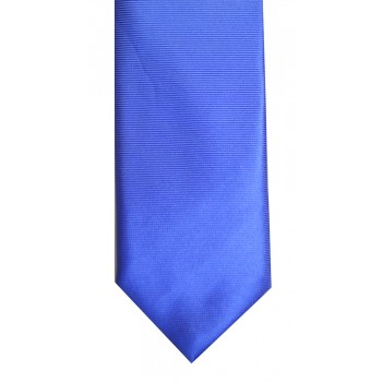 Royal Blue Twill Tie with Matching Pocket Square