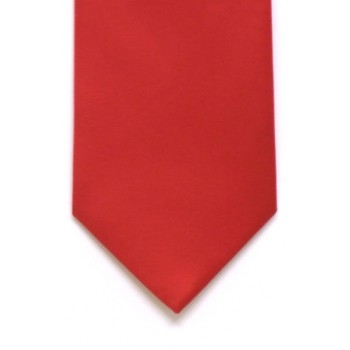 Red Satin Tie with Matching Pocket Square
