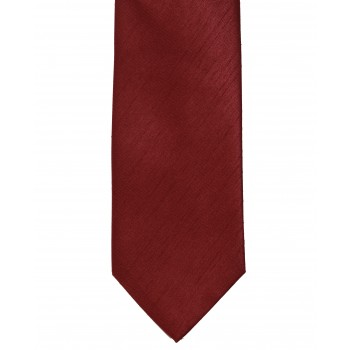 Red Shantung Tie with Matching Pocket Hankie