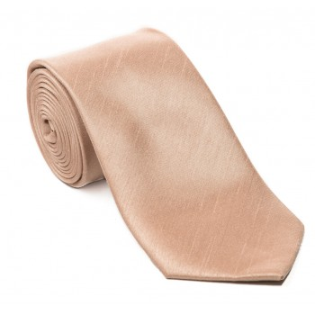 Champagne Shantung Tie with Matching Pocket Hankie