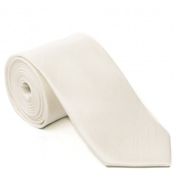 Ivory Shantung Tie with Matching Pocket Hankie