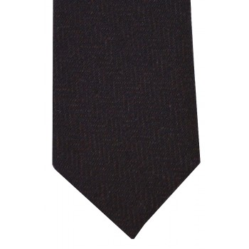 Brown Herringbone Tweed Slim Tie #TWW101/3