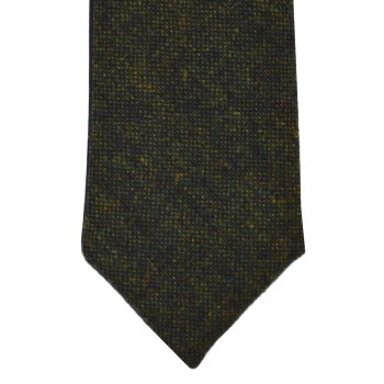 Green Flecked Tweed Slim Tie and Hankie Set