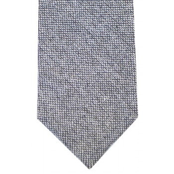 Grey Tweed Slim Tie and Hankie Set