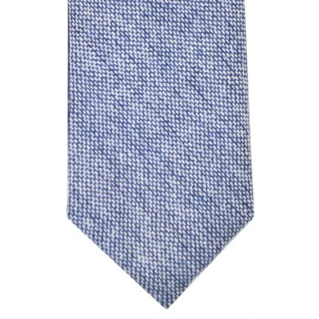 Blue Tweed Slim Tie and Hankie Set