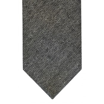 Black Herringbone Tweed Slim Tie #TWW115/1