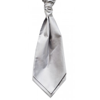 Silver Self Tie Twill Cravat #WCS103/5