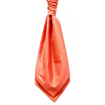 Dark Coral Self Tie Twill Cravat #WCS104/1