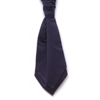 Navy Blue Self Tie Satin Cravat #WCS1847/3