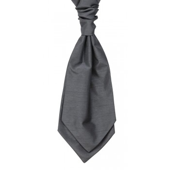 Grey Self Tie Shantung Cravat #WCS1865/1