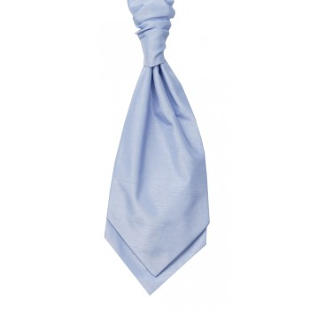 Sky Blue Self Tie Shantung Cravat #WCS1866/6