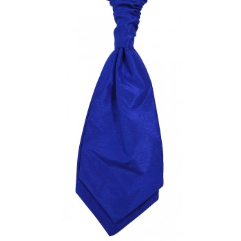 Royal Blue Self Tie Shantung Cravat #WCS1867A/4