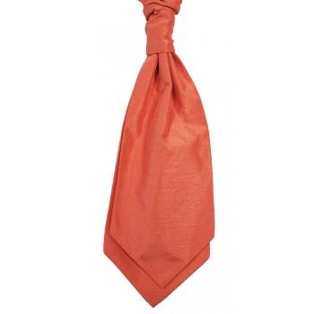 Coral Self Tie Shantung Cravat #WCS1867A/5