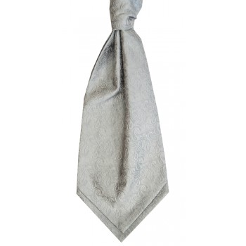 Silver Stately Paisley Cravat #WCR1910/1