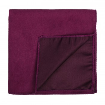 Red Velvet Suede Pocket Square #AB-TPH1006/1