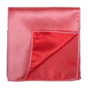 Burnt Coral Shantung Pocket Square #AB-TPH1005/21