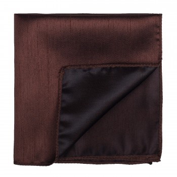 Chocolate Brown Shantung Pocket Square #AB-TPH1005/19