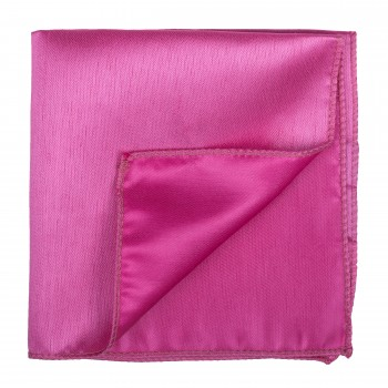 Hot Pink Shantung Pocket Square #AB-TPH1005/17