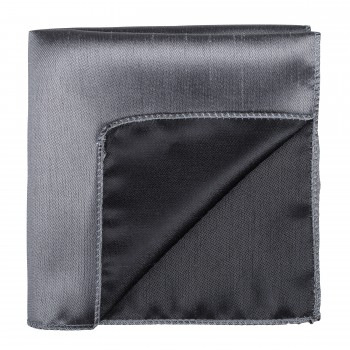 Dark Grey Shantung Pocket Square #AB-TPH1005/9