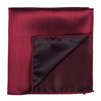 Burgundy Shantung Pocket Square #AB-TPH1005/7