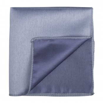 Mid Silver Shantung Pocket Square #AB-TPH1005/6