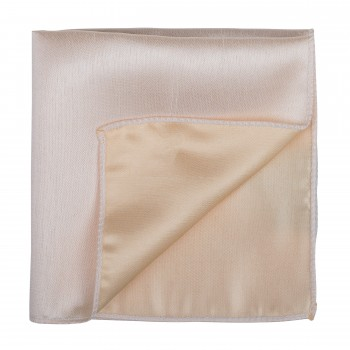 Butter Cream Shantung Pocket Square #AB-TPH1005/4