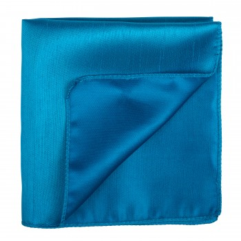 Crystal Teal Shantung Pocket Square #AB-TPH1005/2