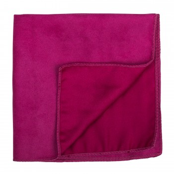 Rose Red Suede Pocket Square #AB-TPH1006/5