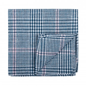 Dutch Blue Check Pocket Square #AB-TPH1007/5