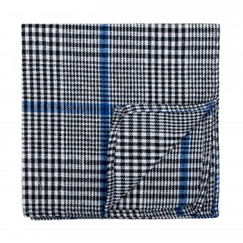 Licorice Black Check Pocket Square #AB-TPH1007/1