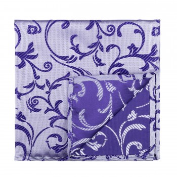 Purple Swirl Leaf Pocket Square #AB-TPH1000/19