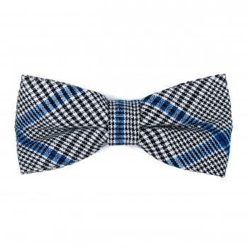 Licorice Black Check Bow Tie #AB-BB1007/1