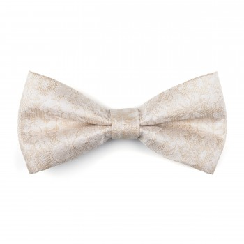 Cloud Cream Floral Bow Tie #AB-BB1012/2