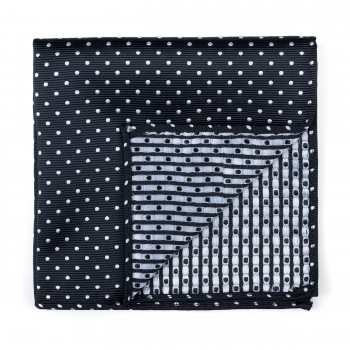 Black Polka Dot Pocket Square #AB-TPH1018/1