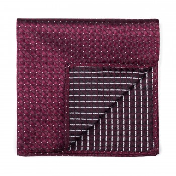 Burgundy Fine Polka Dot Pocket Square #AB-TPH1017/4