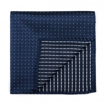 Navy Fine Polka Dot Pocket Square #AB-TPH1017/2