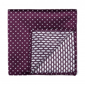 Wine Polka Dot Pocket Square #AB-TPH1018/3