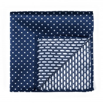 Navy Polka Dot Pocket Square #AB-TPH1018/2