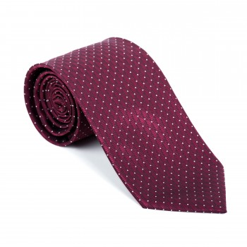 Burgundy Fine Polka Dot Tie #AB-T1017/4