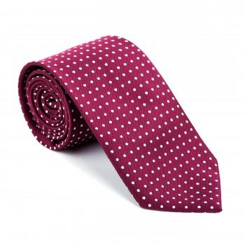 Burgundy Polka Dot Tie #AB-T1018/4