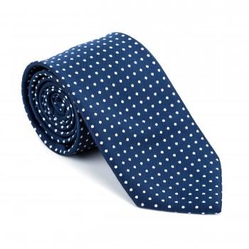 Navy Polka Dot Tie #AB-T1018/2