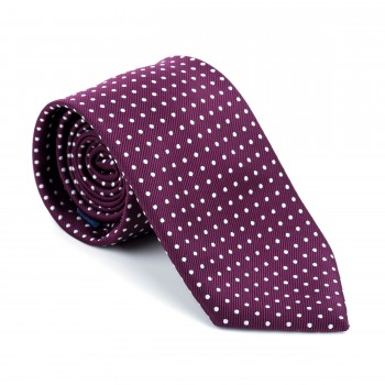 Wine Polka Dot Tie #AB-T1018/3