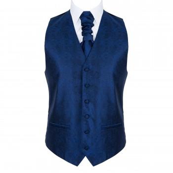 Twilight Blue Floral Waistcoat