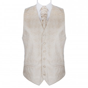 Cloud Cream Floral Waistcoat #AB-WWA1012/2