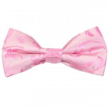 Pink Swirl Leaf Wedding Bow Tie #AB-BB1000/6