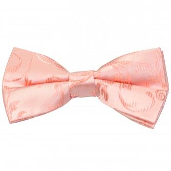 Peach Swirl Leaf Wedding Bow Tie #AB-BB1000/7