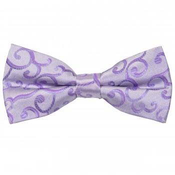 Lilac Royal Swirl Wedding Bow Tie #AB-BB1001/1